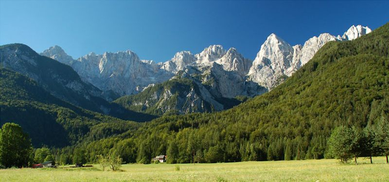 Alpine foothills, Julian Alps, Slovenia