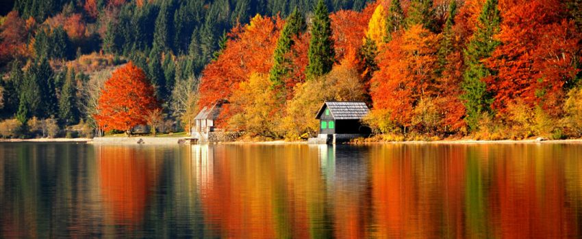 Autumn at Bohinj Lake, Julian Alps, Slovenia