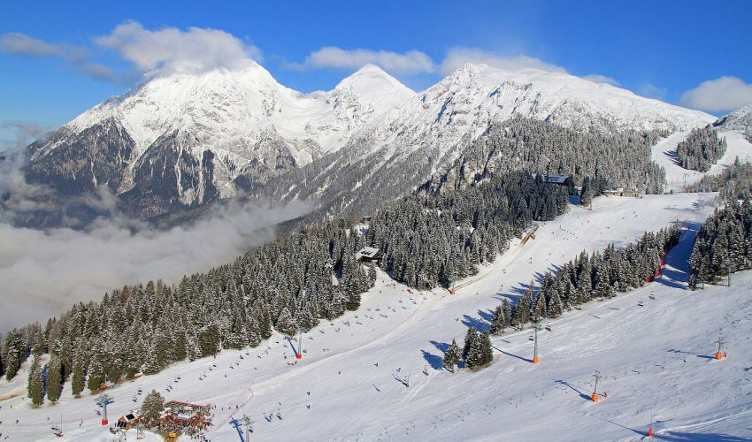 The Julian Alps in Winter