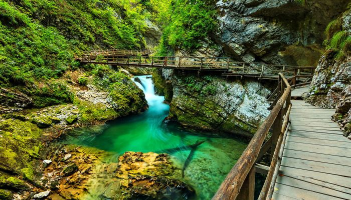 Vintgar-Gorge in the Julian Alps