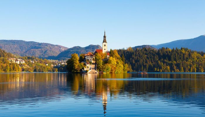 Lake Bled, Julian Alps, Upper-Carniola, Summer